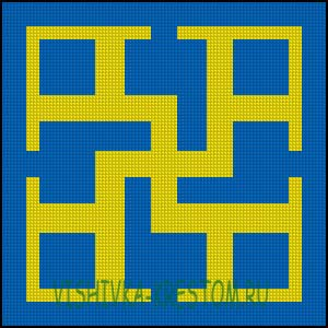 Схема для вышивки крестом: Духовная сила