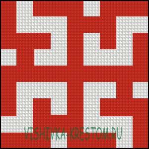Схема для вышивки крестом: Духобор