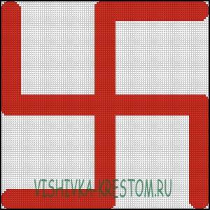 Схема для вышивки крестом: Фаш (Пламень)