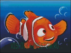 Схема для вышивки крестом: Рыбка