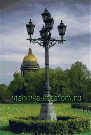 Вышивка крестом Питерские фонари