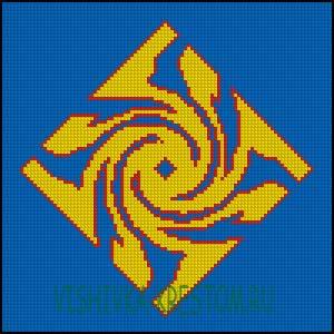 Схема для вышивки крестом: Гаруда
