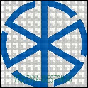 Схема для вышивки крестом: Громовик