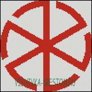 Схема для вышивки крестом: Грозовик