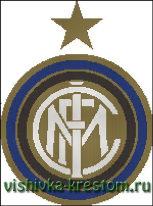 Схема для вышивки крестом: Эмблема футбольного клуба ФК Интер