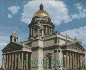 Вышивка крестом Исаакиевский собор