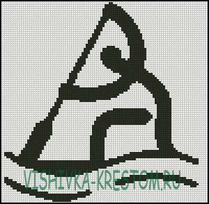 Вышивка крестом Логотип вида спорта Каное