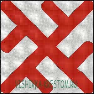 Схема для вышивки крестом: Колард