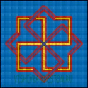 Схема для вышивки крестом: Колохорт