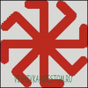 Схема для вышивки крестом: Колядник
