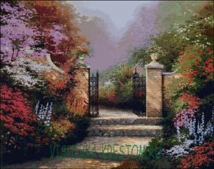 Вышивка крестом Викторианский парк