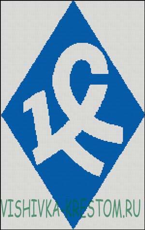 Схема для вышивки крестом: Эмблема Крылья Советов
