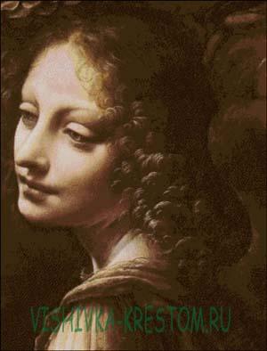 Вышивка крестом Голова ангела