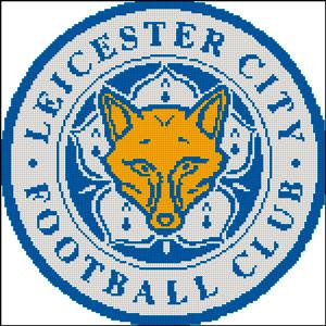 Вышивка крестом Эмблема футбольного клуба Лестер
