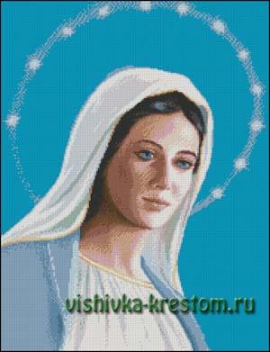 Схема для вышивки крестом: Мария