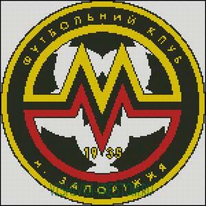Схема для вышивки крестом: Эмблема футбольного клуба Металлург (Запорожье).