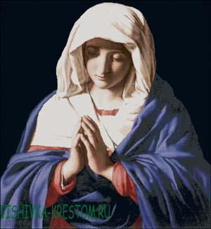 Схема для вышивки крестом: Молитва