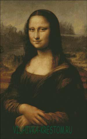 Схема для вышивки крестом: Мона Лиза