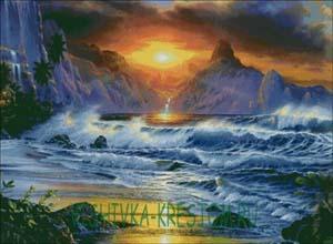 Схема для вышивки крестом: Морской пейзаж