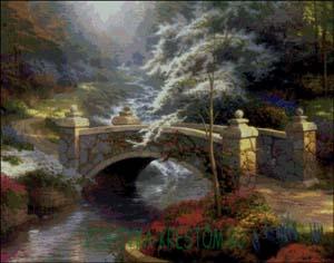 Вышивка крестом Мост