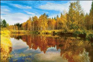 Схема для вышивки крестом: Осенний пейзаж