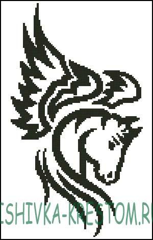 Схема для вышивки крестом: Пегас