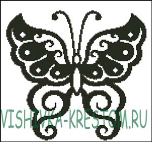 Схема для вышивки крестом: Симметричная Бабочка