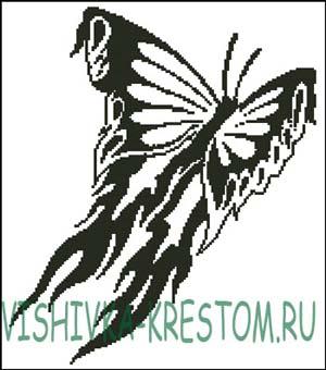 Схема для вышивки крестом: Бабочка