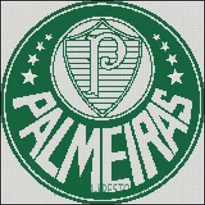 Схема для вышивки крестом: Эмблема футбольного клуба Палмейрас
