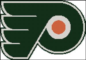 Схема для вышивки крестом: эмблема хоккейного клуба Филадельфия флаерз