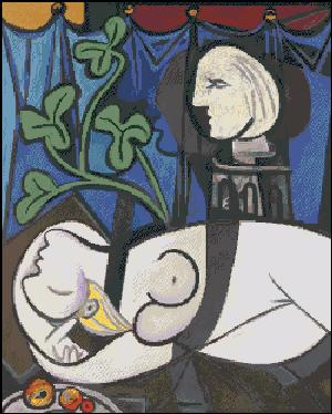 Вышивка крестом Обнаженная  Пикассо