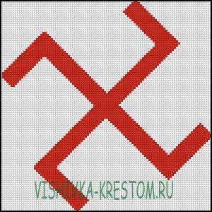 Схема для вышивки крестом: Посолонь