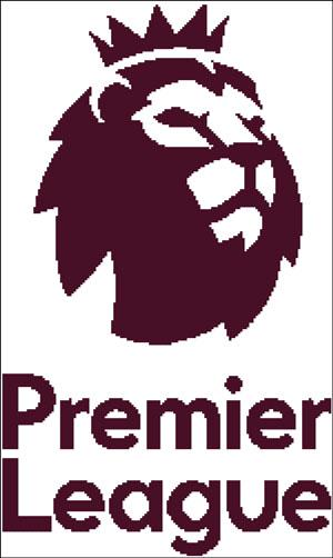 Схема для вышивки крестом: Эмблема футбольной английской премьер лиги