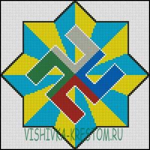 Схема для вышивки крестом: Расич