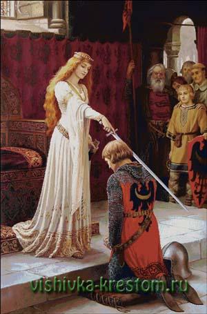 Схема для вышивки крестом: Посвящение в рыцари