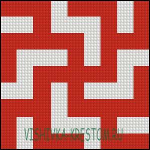 Схема для вышивки крестом: Рыжик