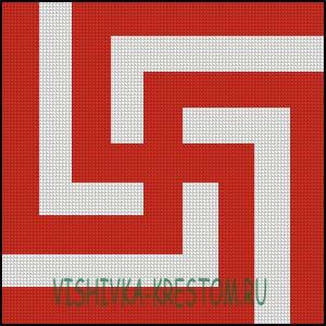 Схема для вышивки крестом: Рубежник