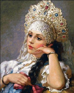 Вышивка крестом Русская краса