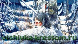 Вышивка крестом Северный орёл