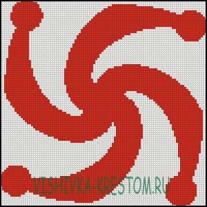 Схема для вышивки крестом: Символ Рода
