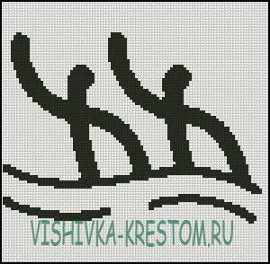 Вышивка крестом Логотип вида спорта Синхронное плавание