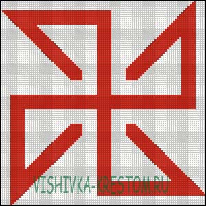 Схема для вышивки крестом: Солонь