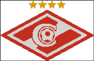 Схема для вышивки крестом: Эмблема футбольного клуба Спартак