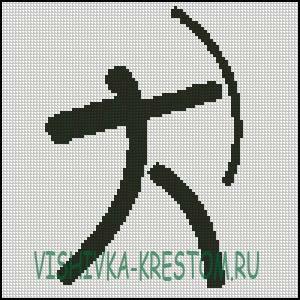 Схема для вышивки крестом: Логотип вида спорта Стрельба из лука