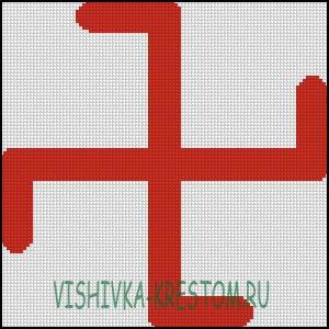 Вышивка крестом Суасти