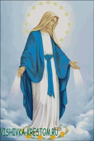 Схема для вышивки крестом: Дева Мария