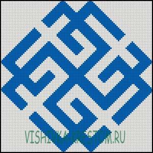 Схема для вышивки крестом: Сварожич