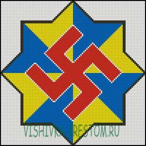Схема для вышивки крестом: Святоч
