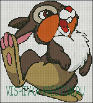 Вышивка крестом Храбрый заяц