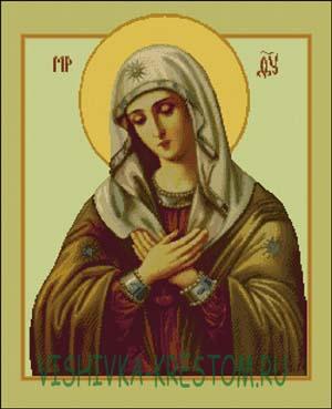 Схема для вышивки крестом: Икона Божией Матери Умиление